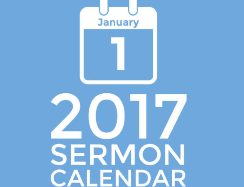 Get This Great 2017 Sermon Calendar
